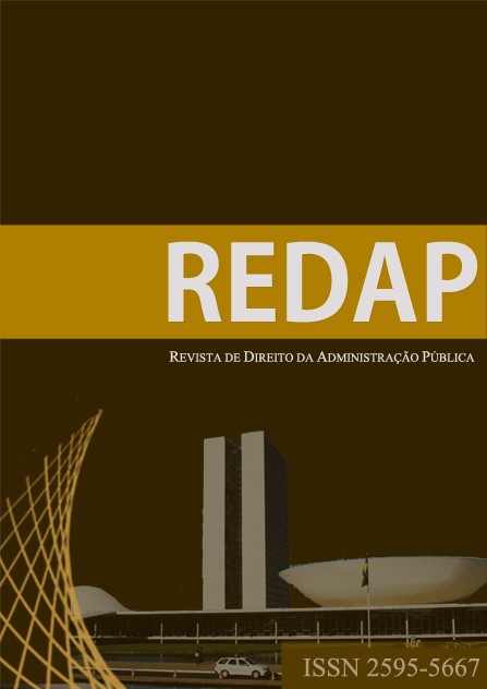 Revista de Direito da Administração Pública | Law Journal Of Public Administration | ISSN 2447-2042 | redapuff@gmail.com